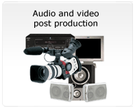 Audio and video post production